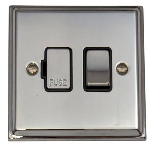 G&H DC357 Deco Plate Polished Chrome 1 Gang Fused Spur 13A Switched